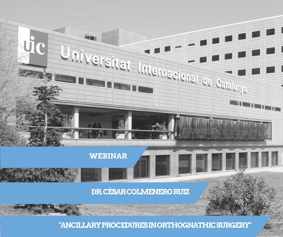 webinar departamentos de Cirugía y Ortodoncia de la UIC